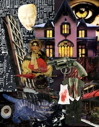 Dark Night, Collage ©2013 Nancy Scott