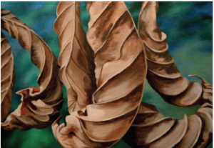 Last Year's Leaves, acrylic, ©2013 Dianne Belnay